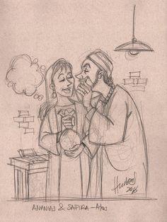 Absurdos entre Ananias e Safira - Disse então Pedro: Ananias, por que encheu Satanás o teu coração, para que mentisses ao Espírito Santo, e retivesses parte do preço da herdade? Atos 5:3