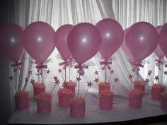 centro de mesa cumpleaños niña
