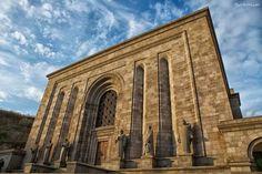 The Mesrop Mashtots Institute of Ancient Manuscripts (Armenian: Մեսրոպ Մաշտոցի անվան հին ձեռագրերի ինստիտուտ), commonly referred to as the Matenadaran (Armenian: Մատենադարան), is a repository of ancient manuscripts, research institute and museum located in Yerevan, Armenia.