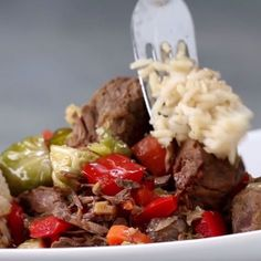 Slow Cooker Steak And Veggies easy to make, and good flavor. kept the onions, and omitted the brussel sprouts.