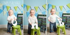 First Birthday Boy Blue Green Photo Ideas
