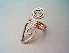 Wire Wrapped Adjustable Copper Ring wire wrapped por GearsFactory