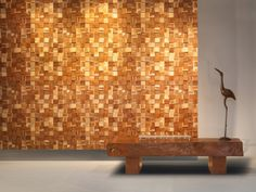 CUTTOFFS is an environmentally friendly manufacturer of wood walls and end grain flooring. End Grain Flooring, Wooden Signs With Sayings, Beautiful Stairs, Wood Cladding, Basement Stairs, Wood Panel Walls, Stair Railing, Wall Treatments, Wood Design