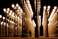 Take pics at Urban Light at the Los Angeles County Museum of Art