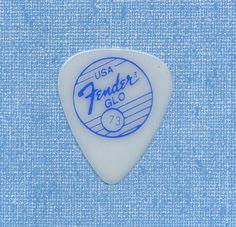 Fender Glo vintage guitar pick blue logo NOS new old stock #Fender #GuitarPick