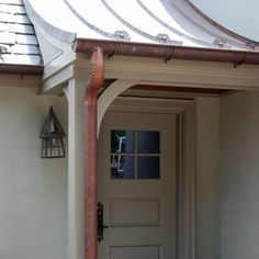Standing Seam Metal Roof Sounds nice when it rai . - CLICK PIN for Various Metal Roofing Pics. Copper Roof, Metal Roof, Copper Gutters, Roof Architecture, Architecture Details, Mansard Roof, Rustic Pergola, Wooden Pergola, Porch Roof