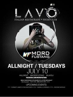 Tonight Lavo Featuring Mord Fustang