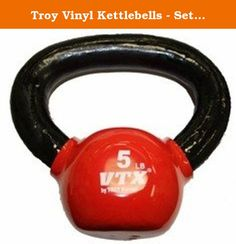 Troy Vinyl Kettlebells - Set of 7 Kettlebells from 10 lb. to 30 lb. VKB-SET. KettleBells can enhance the training program of anyone that seeks strength and lean muscle mass while helping to maintain maximum flexibility, power and endurance. Also a great addition to any circular strength training or cardio group fitness class.