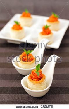 Majorcan vol-au-vents. Recipe available - Stock Photo