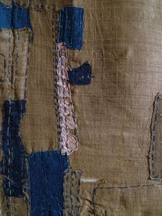 japanese boro textile w/paper patches
