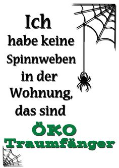 "Kunstdruck ""Spinnweben"", witziges Spruchposter in Deutsch / funny typo artprint, clean up made by Edy Dark via DaWanda.com"