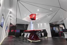Project: E-Condos Presentation Center, Toronto, ON Design: MIke Niven Interior Design Developers: Rio Can, Bazis, Metropia General Contractor: TMG Builders Photography: Eventscape Inc.