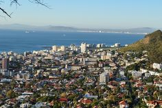 Fresnaye - city view Most Beautiful Cities, Cape Town, Seattle Skyline, San Francisco Skyline, South Africa, Westerns, World, City, Travel