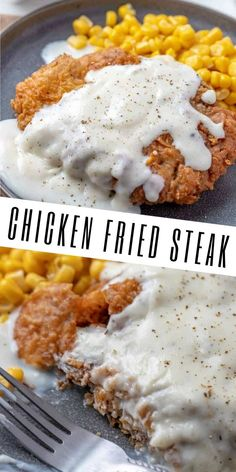 Chicken Fried Steak Want comfort at an affordable price? This Chicken Fried Steak recipe is a family favorite, easy and tasty dinner recipe that you cant stop eating. Cube Steak Recipes, Meat Recipes, Cooking Recipes, Delicious Dinner Recipes, Yummy Food, Steak Frites, Salisbury Steak Recipes, Favorite Recipes, Healthy Dinner Recipes