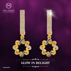 Look charming and pleasant with this mine earring and glow in delight.