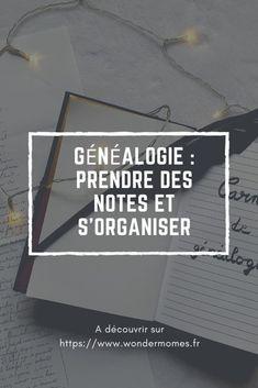 Généalogie : prendre des notes et les sauvegarder - Wondermomes Evernote, Etat Civil, Internet, Culture, Isabelle, Organiser, Blogging, Diy, Birth Certificate