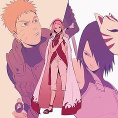 Naruto, Sakura and Sasuke || Boruto: Naruto Next Generations