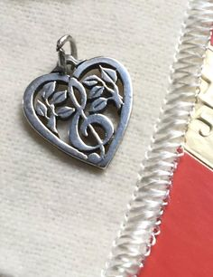 """Sterling Silver Red Enamel Medical Alert Pendant Charm,Made in Italy,18/"""" Chain"""