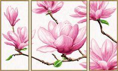 Malen Nach Zahlen Bild Magnolien Triptychon 609260527 Von Schipper Tablolar Suluboya Resim