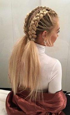 500+ idées de tresses, nattes, couronnes | coiffure