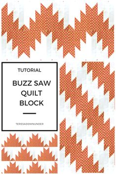 tutorial: Buzzsaw or delectable mountains quilt block Buzzsaw quilt block - free video tutorial. You can make several quilt designs with this block. You can make several quilt designs with this block. Quilting Templates, Quilting Tutorials, Quilting Designs, Quilting Projects, Quilt Block Patterns, Pattern Blocks, Quilt Blocks, Easy Quilts, Small Quilts