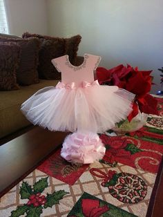 Pink TuTu Dress Centerpiece / Ballerina Baby Shower / Ballerina Centerpiece by TheCarriageShoppe on Etsy https://www.etsy.com/listing/216197387/pink-tutu-dress-centerpiece-ballerina