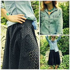 DIY Clothing & Tutorials: HOW TO SEW AN EYELET CIRCLE SKIRT WITH BUILT IN LEGGINGS
