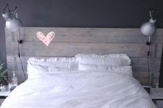 Steigerhouten bedboard