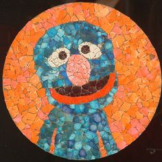 Eggshell Mosaic. Instructions are in the Muppet's Big Book of Crafts