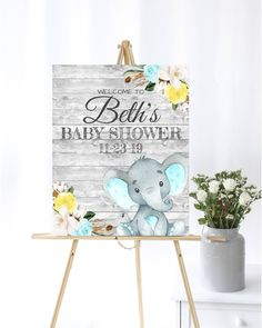 Blue Elephant Baby Shower Welcome Sign Teal Baby Welcome Sign Yellow Baby Shower Decor Welcome Shower Sign Printable Elephant Welcome Sign by MintedDelights on Etsy Baby Shower Welcome Sign, Baby Shower Signs, Baby Shower Yellow, Elephant Baby, Teal, Blue, Baby Shower Decorations, Printable, Kids Rugs