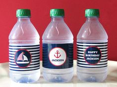 Nautical Birthday - Nautical Printable - Drink Wrap - first birthday - Printable Party - sail boat - Boy Birthday - Girl Birthday via Etsy