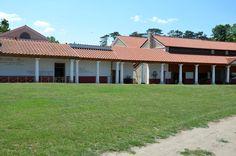 Der Archäologische Park Carnuntum im Juli 2014 - Portikus