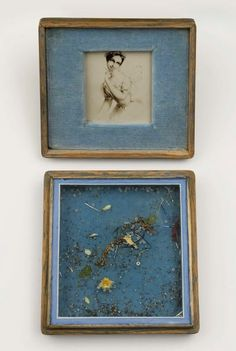 """Available for sale from The Mayor Gallery, Joseph Cornell, Lucile Grahn as 'La Sylphide' (c. Early Painted wooden box (""""souvenir case"""") filled with… Joseph Cornell Artwork, Joseph Cornell Boxes, Creative Box, Max Ernst, Assemblage Art, Oui Oui, Surreal Art, Box Art, Magritte"""