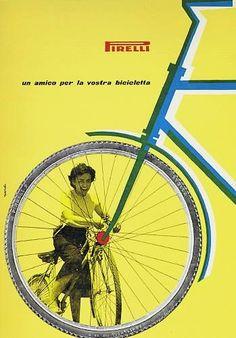 Bob Noorda / 'Millions of cyclists choose Pirelli tires' 1960s   @cyclist #CycleRevolution  via @helloppomme