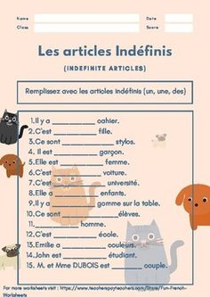 Hello Guys, This pin is all about Cool, Fun topic wise worksheets which i create for my love towards the language French. You can contact me anytime for any particular topic on french that you wishes to create worksheets for. I will be happy to help :) French Language Lessons, French Lessons, Spanish Lessons, French Teaching Resources, Teaching French, Spanish Activities, Teaching Spanish, French Kids, French Class