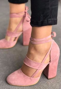 Nice babe pink heels for a win-win.