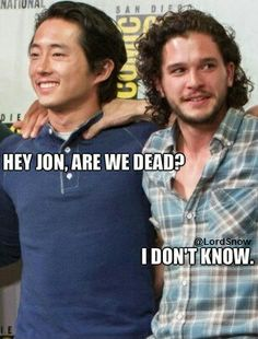 It's not easy being a Glenn or Jon Snow fan at the moment. #TWD #GOT