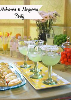 A home party (makeup) and margaritas (yummy recipe)