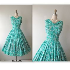 Hey, I found this really awesome Etsy listing at https://www.etsy.com/listing/182064589/50s-floral-dress-vintage-1950s-floral