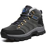 Men's Boots Comfort Snow Boots Fashion Boots Light Soles Fall Winter Real Leather Athletic Casual Outdoor Lace-up Flat Heel Black Dark 2017 - $34.99