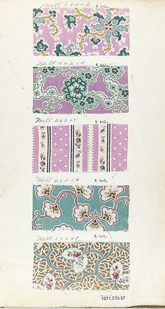 Textile Sample Book    Date:      1870s  Culture:      English or American Met Museum