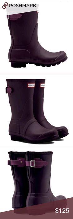 Brand new hunter Adjustable Short Rain Boots New in box US size 10, euro 41 Hunter Shoes Winter & Rain Boots