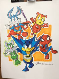 Tiny Toons as Super Heroes#Repin By:Pinterest++ for iPad#