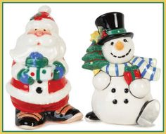 The Merry and Bright Santa Salt and Pepper Set is just one piece from this whimsical holiday collection! The unique Santa Claus and Snowman create the perfect salt and pepper duo for your holiday table! Also doubles as a great hostess gift. Nutcracker Christmas, Christmas Toys, Christmas Decorations, Salt And Pepper Chicken, Salt And Pepper Set, Salt And Pepper Restaurant, Hand Painted Ceramics, Salt Pepper Shakers, Merry And Bright
