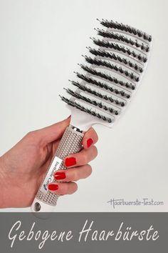 Die gebogene Haarbürste ist ein richtiges Multitalent: - Entwirrbürste durch die biegsamen Borsten - Haarpflegebürste durch die Naturborsten - Ventbürste zum Föhnen Vintage Microphone, Best Hair Brush, Nice Asses