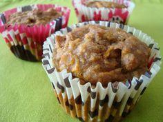 Muffins de banana e cenoura