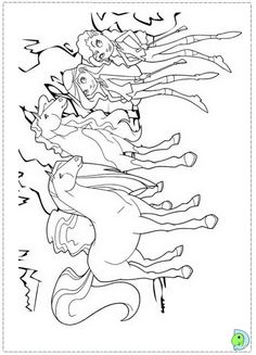 princess riding horse coloring page  girls  Pinterest