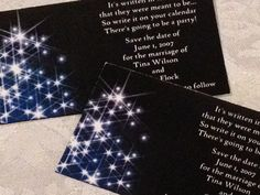 Midnight Blue Starry Night Magnetic Save The Date