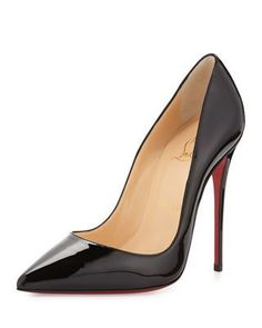 So Kate Patent Red Sole Pump, Black by Christian Louboutin at Bergdorf Goodman. Louboutin High Heels, Red Louboutin, Red High Heels, Stiletto Heels, Shoes Heels, Bergdorf Goodman, Christian Louboutin Outlet, Manolo Blahnik Heels, Prom Heels