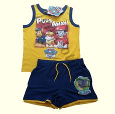 Paw Patrol Vest T-shirt and shorts Set Yellow & Navy